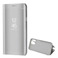 Gigapack Tok álló (aktív flip, oldalra nyíló, asztali tartó funkció, tükrös felület, mirror view case) ezüst tok és táska