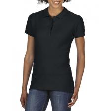 GILDAN prémium Női dupla piké póló, fekete női póló