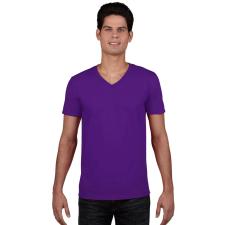 GILDAN V. nyakú férfi póló, lila (Gildan V. nyakú férfi póló, lila) férfi póló