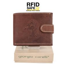 Giorgio Carelli lovas, rugalmas nyelves bőr pénztárca RFID 677797-701