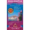 Gizimap Dalmácia, Isztria általános földrajzi térkép