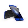 GKK Apple iPhone 8 hátlap - GKK 360 Full Protection 3in1 - Logo - fekete/kék