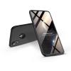 GKK Apple iPhone XR hátlap - GKK 360 Full Protection 3in1 - Logo - fekete