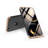 GKK Apple iPhone XR hátlap - GKK 360 Full Protection 3in1 - Logo - fekete/arany