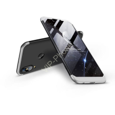 GKK Huawei P20 Lite hátlap - GKK 360 Full Protection 3in1 - fekete/ezüst tok és táska