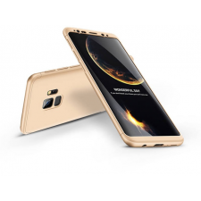 GKK Samsung G960F Galaxy S9 hátlap - GKK 360 Full Protection 3in1 - arany tok és táska