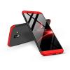 GKK Samsung J610F Galaxy J6 Plus (2018) hátlap - GKK 360 Full Protection 3in1 - fekete/piros