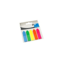 GLN Jelölőcímke GLN 12x44 mm, 5x25 lap, nyilak, átlátszó csomagolásban (műanyag) jegyzettömb