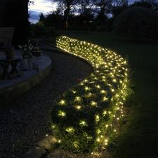 Globiz Fényháló, 160 db LED, melegfehér (55227) karácsonyfa izzósor