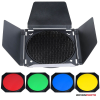 Godox fényterelő,színszűrők és méhsejt BD-04