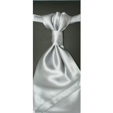 Goldenland Francia nyakkendõ,díszzsebkendõvel - Ezüst