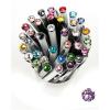 "Golyóstoll, Crystals from SWAROVSKI®, fehér,  14cm""Elegante"", orgona lila kristállyal"