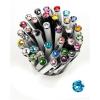 ". Golyóstoll, Crystals from SWAROVSKI®, fekete, 14cm""Elegante"", aquakék kristállyal"