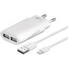 Goobay hálózati adapter 2 x USB aljzat + kábel Apple lightning 1m 2,1A fehér