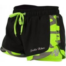 Gorilla Wear Denver Short (fekete-neon lime) (1 db)