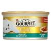 Gourmet Gold teljes értékű állateledel felnőtt macskáknak lazac és csirke falatok szószban 85 g