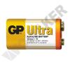 GP BATTERIES 6LR61 GP1604AU-S1 Ultra alkáli 9V elem fóliás