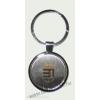 Gravírozott címeres kerek kulcstartó (átm. 35 mm)