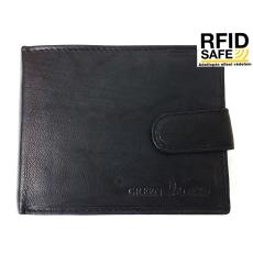 GREEN DEED fekete, patentos nyelvű, erezetes pénztárca XGR7723T