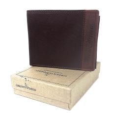 GREEN DEED kétszínű, nyomott logós, szabadon nyíló kártyatartós pénztárca GDF6002L