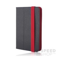 GreenGo univerzális tablet tok 7-8 colos, fekete-piros tablet tok