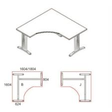 GS-160/160-J-LUX íróasztal