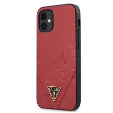 "Guess GUHCP12SVSATMLRE iPhone 12 5,4"" piros tok Saffiano Guess / GUE000833 telefontok tok és táska"