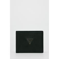GUESS JEANS - Bőr pénztárca Clermont - fekete - 1420801-fekete