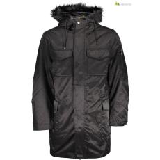 GUESS JEANS Férfi kabát fekete kapucnis WH2-M73L67R6Y80_JTMU
