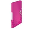 GUMIS mappa, 30 mm, PP, A4, LEITZ Wow Jumbo, rózsaszín