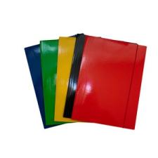 Gumis mappa FORNAX Glossy karton A/4 400 gr,fekete mappa