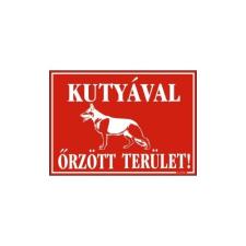 GUNGL DEKOR PIKTOGRAM KUTYÁVAL ŐRZÖTT TERÜLET PIROS információs címke