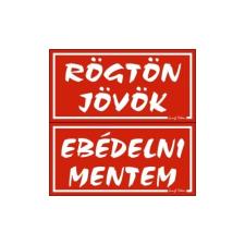 GUNGL DEKOR PIKTOGRAM RÖGTÖN J.-EBÉDELNI M. (KÉTOLD. TÁBLA) PIROS információs címke