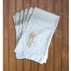 Gungldekor Szaunaklubbok hotelek részére 10 db-os Szaunalepedő zsebbel darázsmintás vászon egyforma egyedi szaunás logó hímzéssel