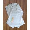 Gungldekor Szaunaklubbok hotelek részére 10 db-os Szaunalepedő zsebbel normál vászon egyforma egyedi szaunás logó hímzéssel