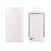 Gyári tok, Samsung Galaxy Grand Prime G530, Flip Cover oldalra nyíló bőr, fehér, gyári, bliszteres, EF-WQ530BWEGWW