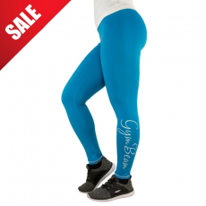 GymBeam Női leggings Vertical Blue White - GymBeam S