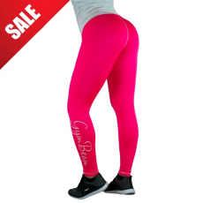GymBeam Női leggings Vertical Pink White - GymBeam L
