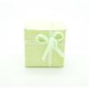Gyűrű és fülbevaló ajándék díszdoboz, masnival. Zöld.