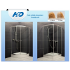 H2O Projecta 90x90 íves zuhanykabin, fabrik üveggel, zuhanytálcával, szifonnal