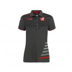 Haas F1 Team női gallĂŠros póló grey 2018 - L