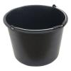 Habarcsos vödör; 20 liter, fekete, műanyag (Vödör)
