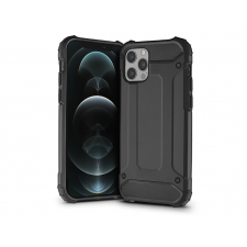 Haffner Apple iPhone 12/12 Pro ütésálló hátlap - Armor - fekete mobiltelefon kellék