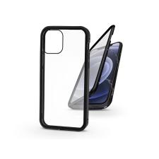 Haffner Apple iPhone 12 Mini mágneses, 2 részes hátlap előlapi üveggel - Magneto 360 - fekete mobiltelefon kellék