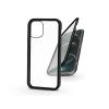 Haffner Apple iPhone 12 Pro Max mágneses, 2 részes hátlap előlapi üveggel - Magneto 360 - fekete