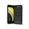 Haffner Apple iPhone SE 2020 szilikon hátlap - Carbon Logo - fekete