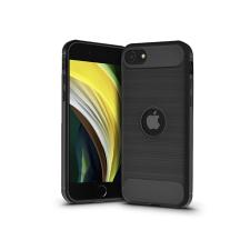 Haffner Apple iPhone SE 2020 szilikon hátlap - Carbon Logo - fekete tok és táska