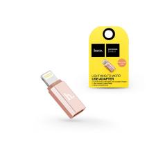 Haffner HOCO Lightning - micro USB adapter - HOCO Lightning to Micro USB - rose gold mobiltelefon kellék