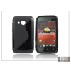 Haffner HTC Desire 200 szilikon hátlap - S-Line - fekete
