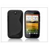 Haffner HTC One SV szilikon hátlap - S-Line - fekete